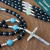 Catholic Rosary: Matte Black Onyx