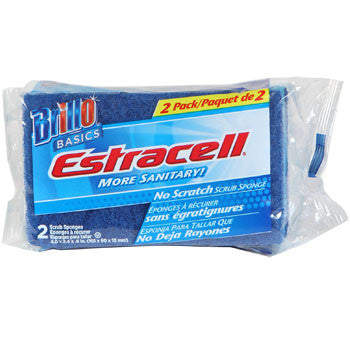 Brillo Basics No-Scratch Estracell Scrub Sponges, 2-ct. Pack