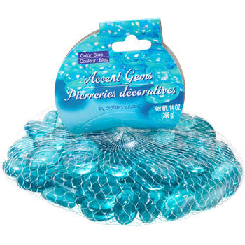 Crafters Square Ocean Blue Glass Accent Gems, 14-oz. Bag