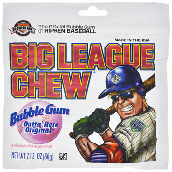 Big League Chew Original Bubble Gum, 2.12-oz. Pouch
