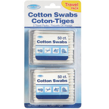 Assured Cotton Swabs with Travel Cases, 2-Pack Set