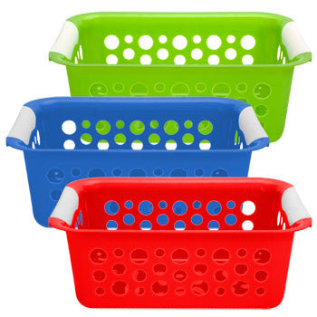 Brightly-Colored Plastic Slotted Basket