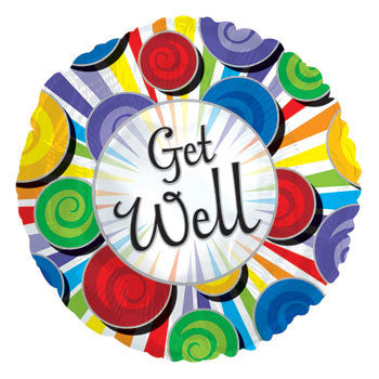 """Get Well"" Foil Balloon, 18"""
