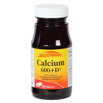 Nature's Measure Calcium + Vitamin D-3, 30 ct.