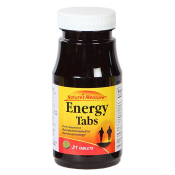 Nature's Measure Energy Tabs, 21 ct.