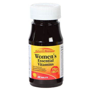 Nature's Measure Women's Essential Vitamins with Iron, 30 ct.