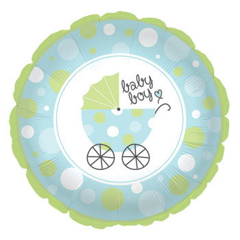 "Blue ""It's a Boy!"" Baby Shower Foil Balloon, 18"""