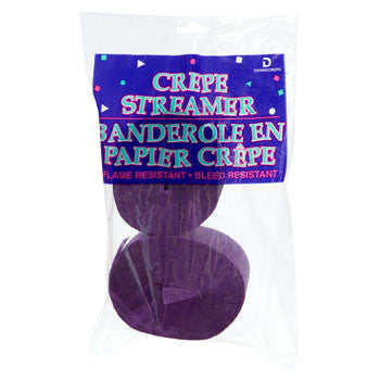 Purple Crepe Paper Streamers, 70½-ft., 2-ct. Pack