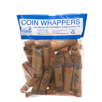 Assorted Coin Wrappers, 36-ct. Bag