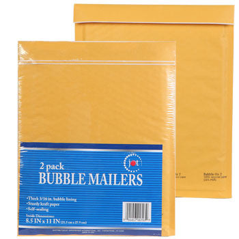 "Jot Bubble Mailers, 8½x11"", 2-ct. Pack"