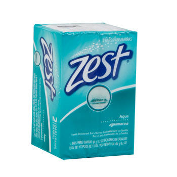 Zest Aqua 3.2-oz. Soap Bars, 2-ct. Pack