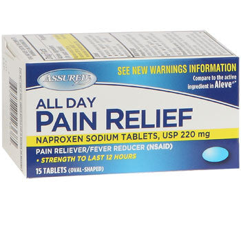 Assured All Day Pain Relief Tablets, 15-ct. Bottle