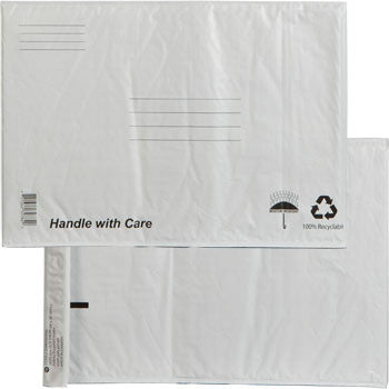 XPAK White Poly Bubble-Lined Mailing Envelope, 11x15""