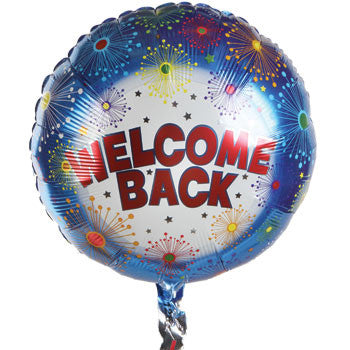 "Fireworks ""Welcome Home!"" Foil Balloon, 17"""