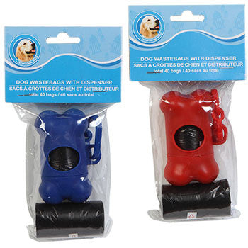Dog Waste Bags with Dispensers