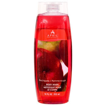 April Bath & Shower Red-Apple Scented Body Wash, 18 oz.