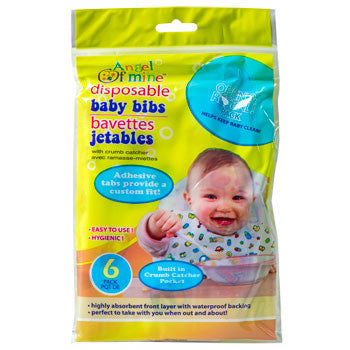 Angel of Mine Disposable Baby Bibs, 6-ct. Pack