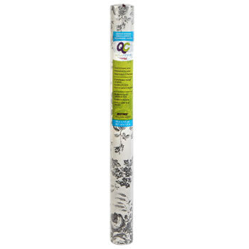 "Con-Tact Quick Cover Gray-Floral Self-Adhesive Shelf Liners, 18x54"" Roll"