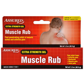 Assured Extra-Strength Muscle Rub, 1.5 oz.