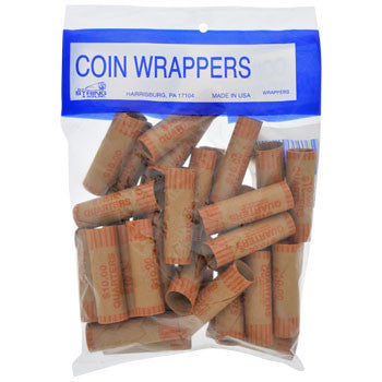 Coin-Roll Wrappers for Quarters, 36-ct. Pack