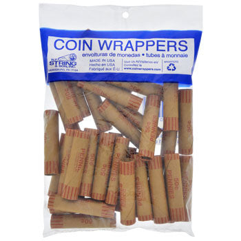Coin-Roll Wrappers for Pennies, 36-ct. Pack