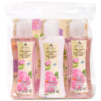 April Bath & Shower Travel-Size Toiletries, 3-ct. Pack