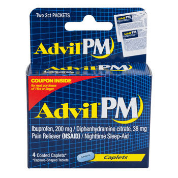 Advil PM Coated Caplets, 4-ct. Pack