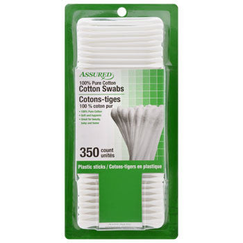 Assured Cotton Swabs with Paper Sticks, 350-ct. Pack