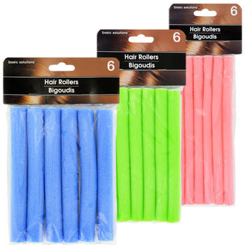 Basic Solutions Flexible Foam Hair Rollers, 6-ct. Pack