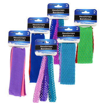 Basic Solutions Colorful Headwraps, 8 ct. (Set of 3)