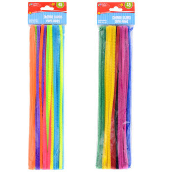 Assorted Chenille Stems, 45-ct. Pack