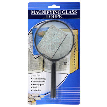 Black Plastic Magnifying Glass
