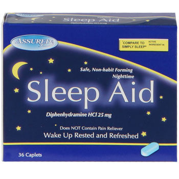 Assured Sleep Aid Caplets, 36-ct. Pack