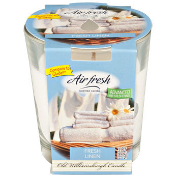 Air Fresh Fresh Linen-Scented Glass Jar Candle, 3 oz.