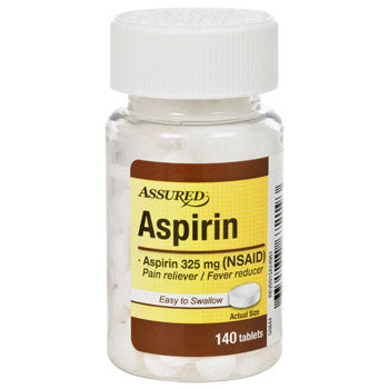 Assured Aspirin, 140-ct. tablets