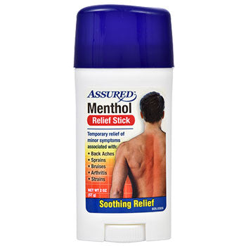Assured Menthol Pain Relief Sticks, 2 oz.