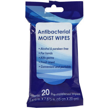 Fresh Scent Antibacterial Moist Wipes, 20-ct. Pack