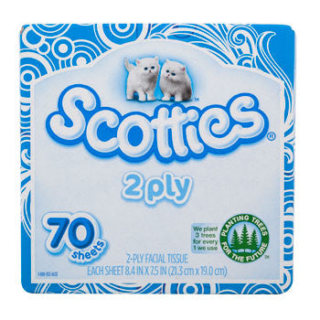 Scotties 2-Ply Facial Tissues, 70-ct. Box