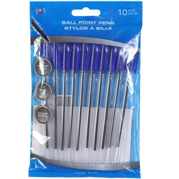 Jot Clear Ballpoint Pens with Blue Ink, 10-ct. Pack