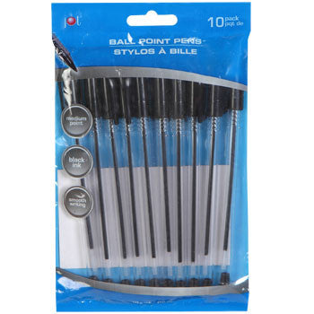 Jot Clear Ballpoint Pens with Black Ink, 10-ct. Pack
