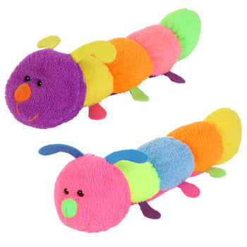Fuzzy Friends Colorful Plush Caterpillar, 12½""