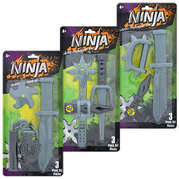 Ninja Playsets, 3-pc. Sets