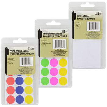 Color Coding Labels, 315-ct. Pack