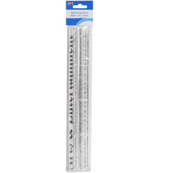 Clear Plastic Magnifying Ruler, 12""