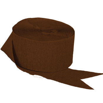 Brown Crepe Paper Streamers, 70½-ft., 2-ct. Pack