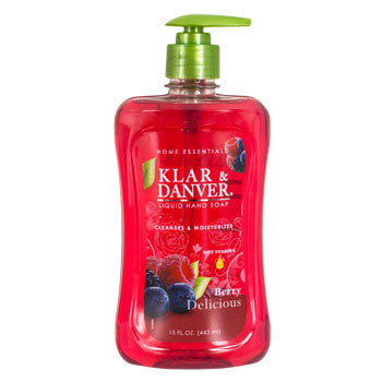 Klar & Danver Berry Delicious Liquid Hand Soap, 15-oz. Bottle