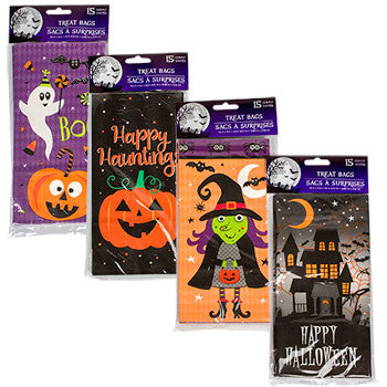 Halloween Paper Gift Bags, 15-ct. Packs (Set of 4)