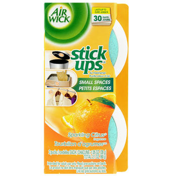 Air Wick Stick Ups Air Fresheners with Sparkling Citrus Scent, 2-ct. Pack