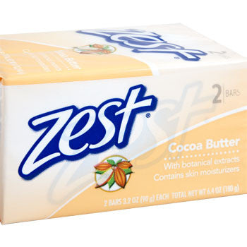 Zest Cocoa Butter Soap, 2-ct. Pack