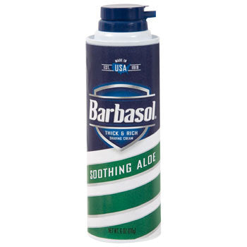 Barbasol Shaving Cream with Soothing Aloe, 6-oz. Can